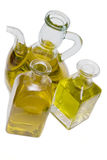 Olive oil botles. Some bottles with olive oil Stock Photos