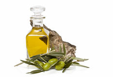 Olive oil bottle. Stock Photos