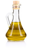 Olive oil in bottle Royalty Free Stock Images