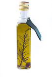 Olive oil in a bottle Royalty Free Stock Photos