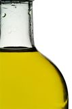 Olive oil bottle with clipping. Olive oil bottle closeup with clipping path Royalty Free Stock Photo