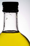 Olive oil bottle closeup (2) Royalty Free Stock Photography