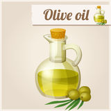 Olive oil in bottle. Stock Image