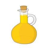 Olive oil bottle illustration. Isolated olive oil bottle illustration Stock Photography