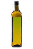 Olive oil bottle isolated on white Stock Photography