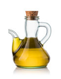 Olive oil in a bottle Stock Image