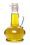Olive oil. Bottle of pure olive oil,isolated on white royalty free stock photos