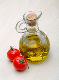 Olive oil bottle Stock Images