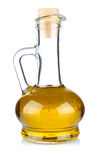Olive oil in the bottle Royalty Free Stock Photo