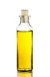 Olive oil bottle on white Stock Images