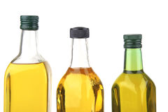 Olive oil bottles Stock Images