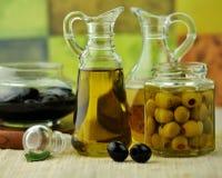 Olive oil bottles Stock Image
