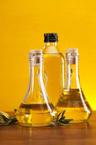 Olive oil in bottles Royalty Free Stock Images