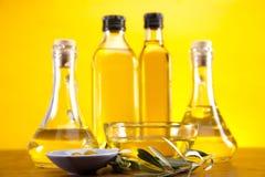 Olive oil bottles Stock Images