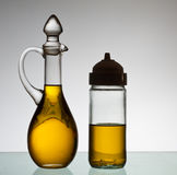 Olive Oil Bottles Stockfotografie