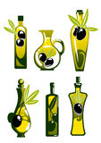 Olive oil in bottles and jug Royalty Free Stock Photography