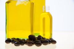 Olive oil bottles on white background Royalty Free Stock Photo