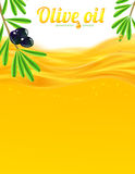 Olive oil and branches vector background Royalty Free Stock Images