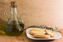 Olive Oil and bread Royalty Free Stock Image
