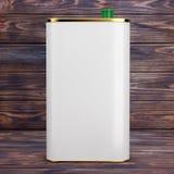 Olive Oil Can com espaço vazio para o vosso projeto rendição 3d ilustração stock