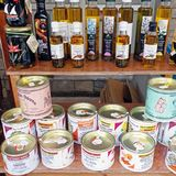 Olive Oil and Candy from Thassos Greek Island royalty free stock images