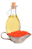 Olive oil and caviar Royalty Free Stock Images