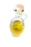 Olive oil in decanter Stock Photography