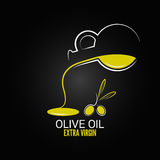 Olive oil design menu background Royalty Free Stock Photo