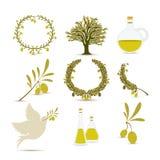 Olive oil design Stock Photo