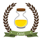 Olive oil design, vector illustration. Stock Photos