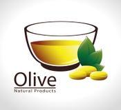 Olive oil design, vector illustration. Royalty Free Stock Image