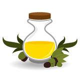 Olive oil design, vector illustration. Stock Photography