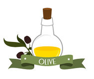 Olive oil design, vector illustration. Royalty Free Stock Photography