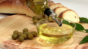 Olive Oil Display stock video footage