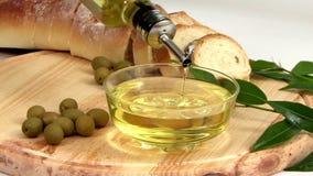 Olive Oil Display stock footage