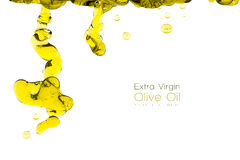 Olive Oil Drops Isolated en blanco Concepto limpio de la consumición Imagenes de archivo