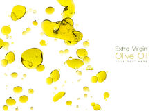 Olive Oil Drops Isolated su bianco Immagine Stock Libera da Diritti