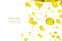 Olive Oil Drops Isolated sur le blanc Images stock