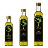 Olive Oil Extra Virgin Flaschen-Modell lizenzfreie abbildung