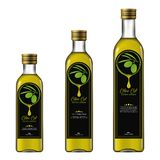Olive Oil Extra Virgin Modelo da garrafa ilustração royalty free