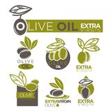 Olive oil extra virgin product vector label templates Stock Photography