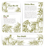 Olive oil extra virgin product vector templates Stock Images