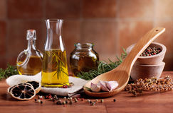 Olive oil flavored Royalty Free Stock Images