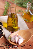Olive oil flavored Stock Image