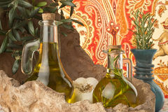 Olive oil flavored Royalty Free Stock Photography