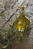 Olive oil flavored with rosemary Stock Image