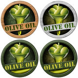 Olive Oil - Four Wooden Icons Royalty Free Stock Image