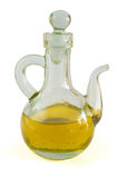 Olive oil. In a glass bottle isolated on white Royalty Free Stock Photography