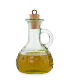 Olive oil in a glass bottle Royalty Free Stock Photo