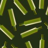 Olive Oil Glass Bottle Set detallada realista Vector Imagenes de archivo